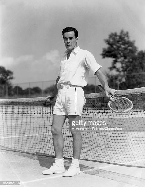 1930s MAN WEARING TENNIS...