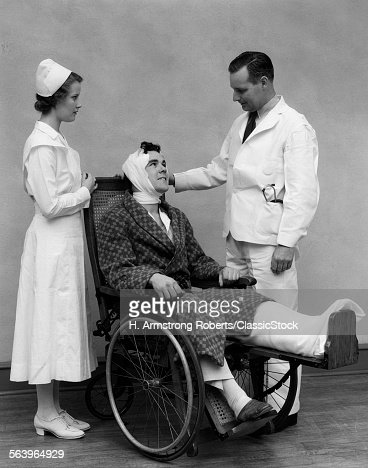 Doctor Taking Temperature Old Fashioned