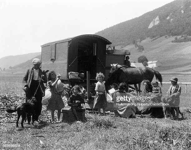 1930s SWISS NOMADS WITH...