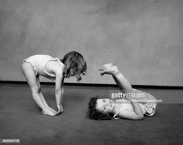 1930s TWO GIRLS WEARING...