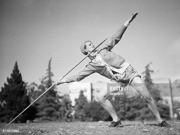 1932Los Angeles CA Mildred 'Babe' Didrikson the outstanding woman athlete of the age and winner of the hurdle and javelin throw events of the Tenth...