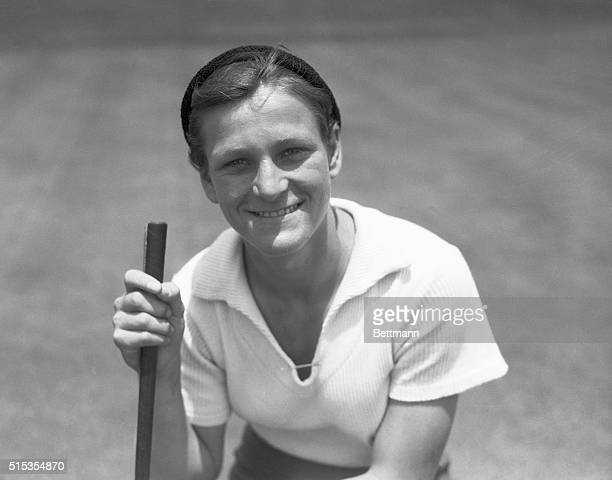 1933Los Angeles CA Babe Didrikson Olympic athlete plays golf in Los Angeles She is shown waistup smiling