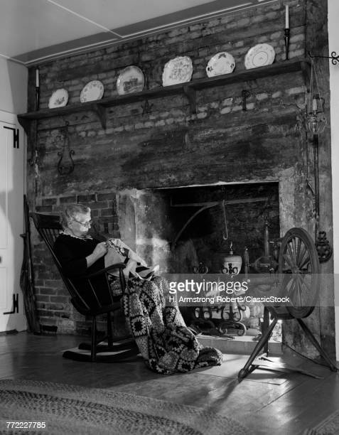 1940s 1950s ELDERLY WOMAN...