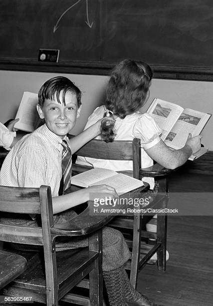 1940s 3 KIDS STUDENTS...