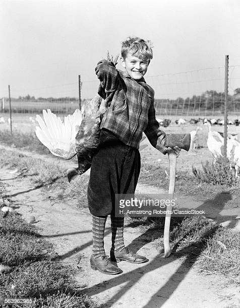 1940s BOY IN PLAID JACKET...