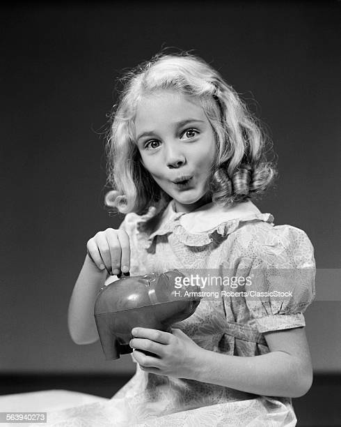 1940s CHILD BLOND GIRL...