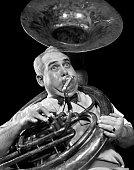 1940s CHUBBY MAN MUSICIAN...