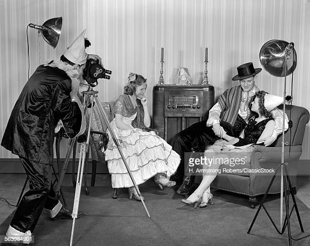 1940s COSTUMED GROUP OF...