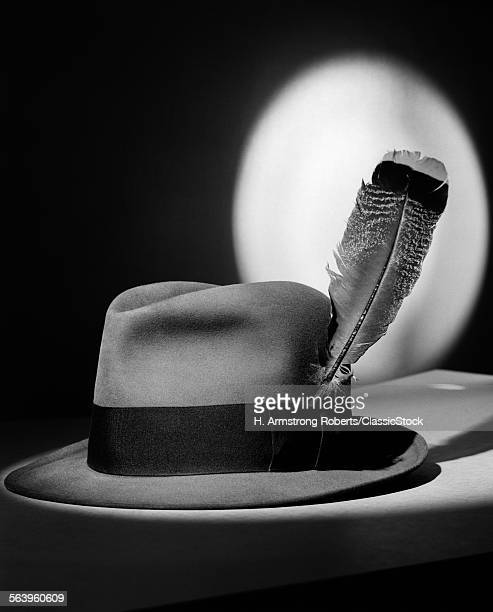 1940s FEDORA HAT WITH...