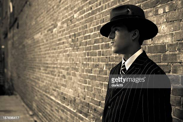 1940s film noir gangster or detective