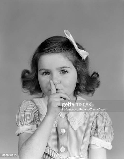 1940s LITTLE GIRL LOOKING...