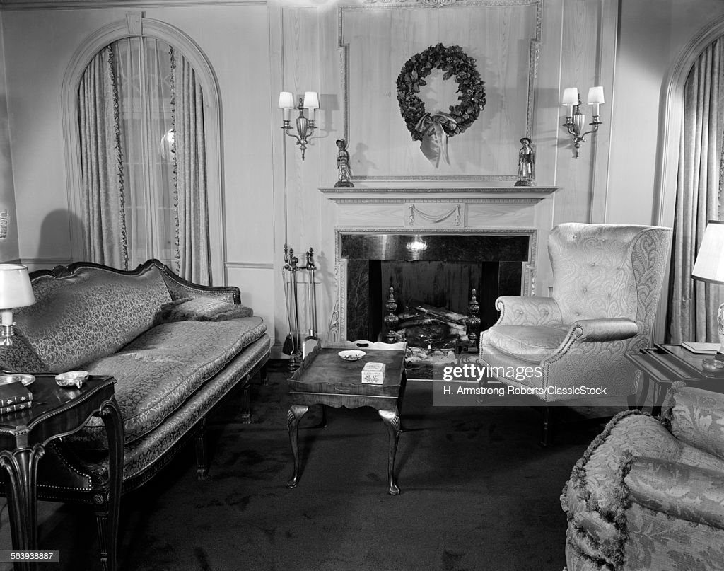 1940s Living Room Sitting Room Stock Photo Getty Images