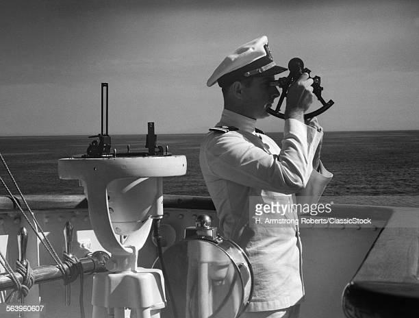 1940s MAN SAILOR CAPTAIN...