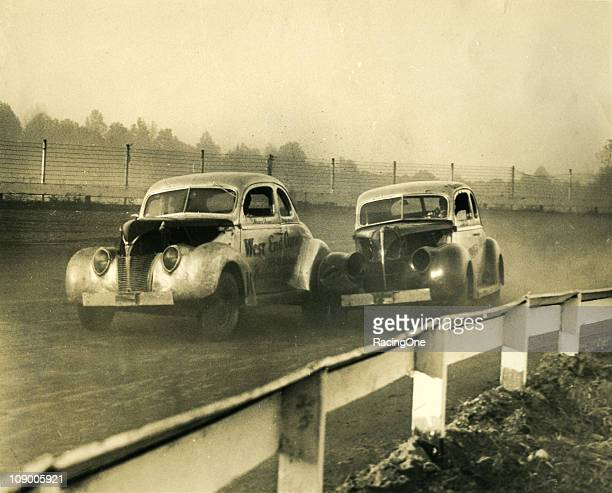 Modified stock cars race at a small dirt track during the late 1940s Short dirt tracks of onequarter mile or less were often referred to as...