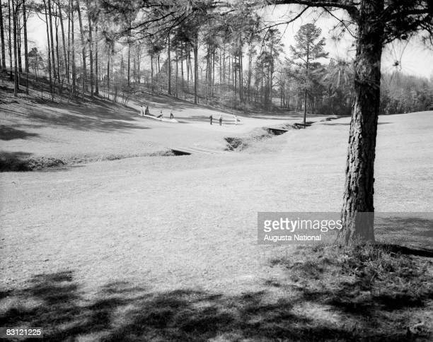 The 16th hole during a 1940s Masters Tournament at Augusta National Golf Club in in April Augusta Georgia