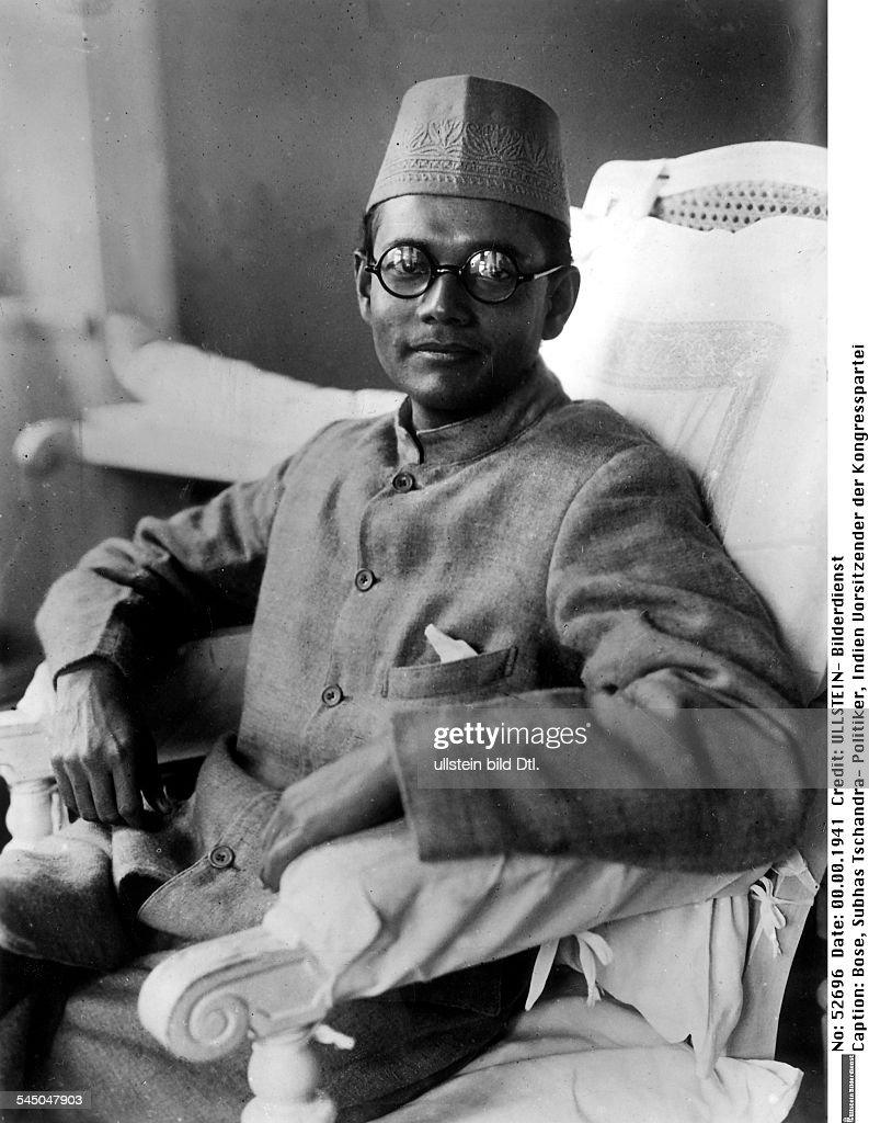 1897 - 1945Politiker, IndienVorsitzender der KongressparteiFührer der 'Provisorischen IndischenNationalpartei' 1943-45Porträt - erschienen Koralle 52/1942