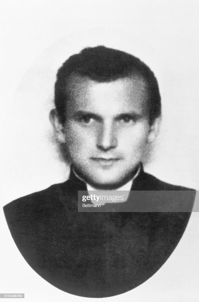 Waraw, Poland- Karol Wojtyla, the present Pope John Paul II, as a canon in 1945.