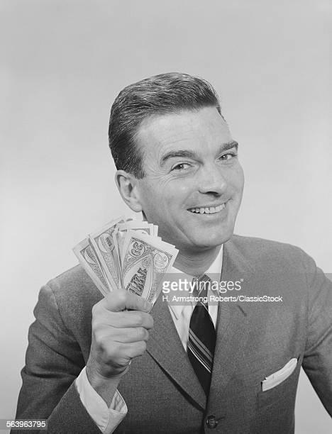 1950s 1960s SMILING MAN...