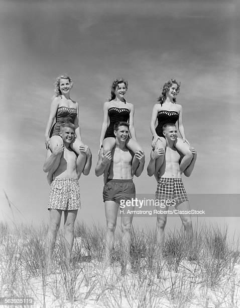 1950s 1960s THREE COUPLES...