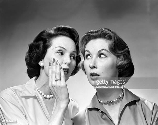 1950s 1960s TWO WOMEN...