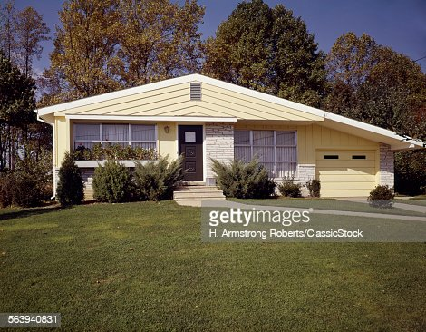 1950s 1960s YELLOW HOUSE...