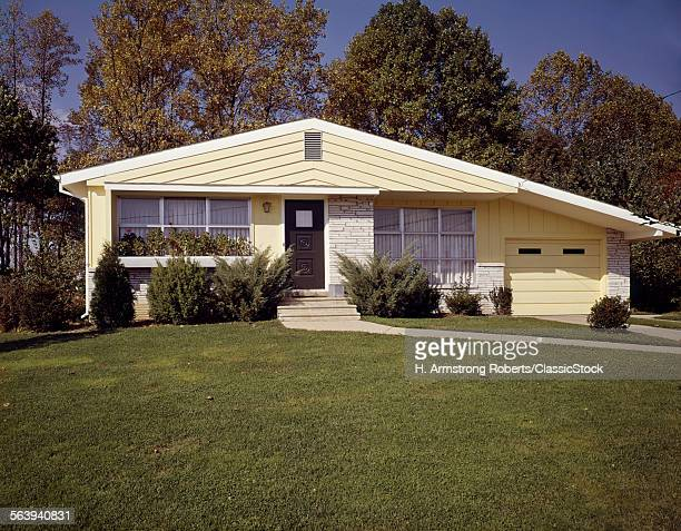 1950s 1960s YELLOW HOUSE...