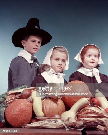 1950s 3 CHILDREN DRESSED...