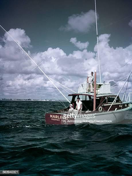 1950s 3 MEN ON CHARTER...