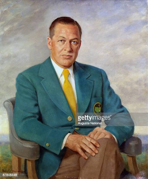 A painting of Bobby Jones by Thomas Stephens at Augusta National Golf Club in Augusta Georgia