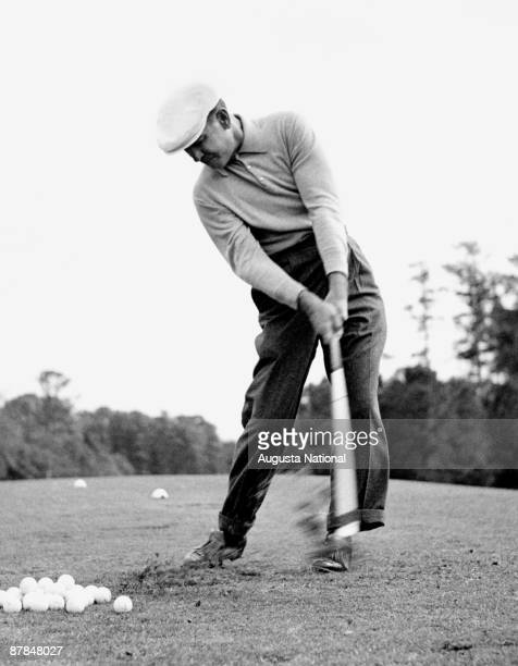 Ben Hogan practices during a 1950s Masters Tournament at Augusta National Golf Club in Augusta Georgia