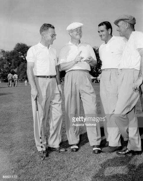 Byron Nelson gives pointers during a 1950s Masters Tournament at Augusta National Golf Club in Augusta Georgia