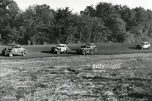 Early1950s stock car racing action at Occoneechee Speedway The track was renamed Orange Speedway in 1954