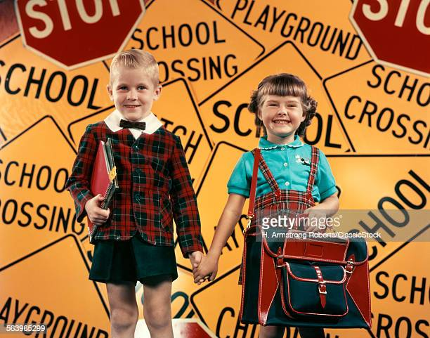 1950s GIRL AND BOY WITH...