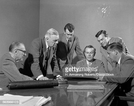 1950s GROUP OF SIX MEN...
