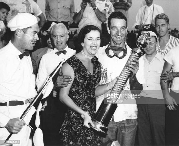 Herb Thomas in victory lane after a NASCAR Cup race at Langhorne Speedway Thomas first won at Langhorne in 1951 and then won both races held there in...