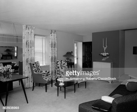 Living Room 1950s 1950s living room interior stock photo | getty images