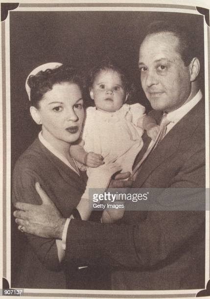 1950s Lorna Luft as a baby with her mother Judy Garland and father Sid Luft on the set of 'A Star Is Born' Photo courtesy of Lorna Luft