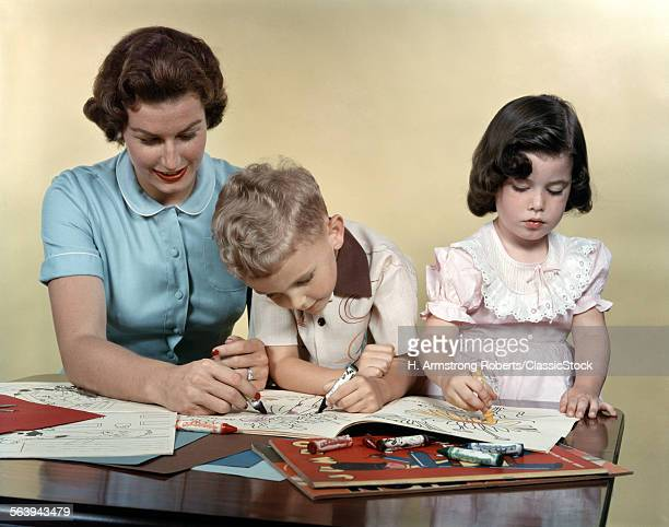 1950s MOTHER SON AND...