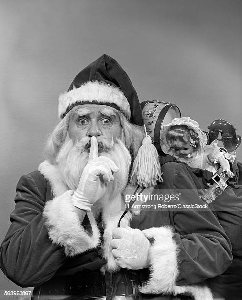 1950s SANTA CLAUS WITH A...