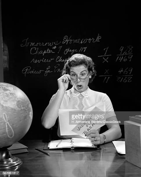 1950s SCHOOL TEACHER AT...