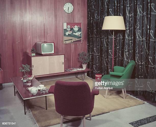 A 1950s sitting room circa 1955