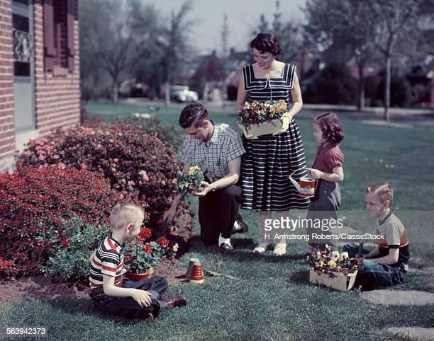 1950s SUBURBAN FAMILY...