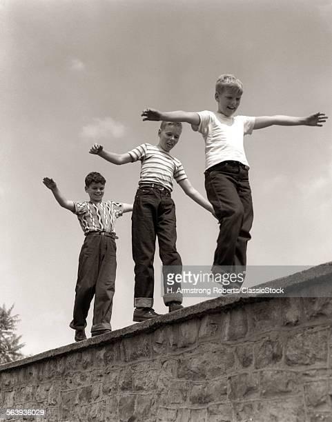 1950s THREE LAUGHING BOYS...