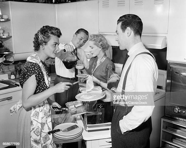 1950s TWO COUPLES IN...