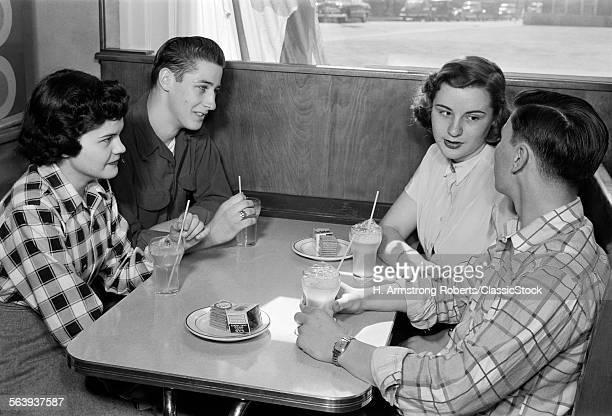 1950s TWO TEENAGE COUPLES...