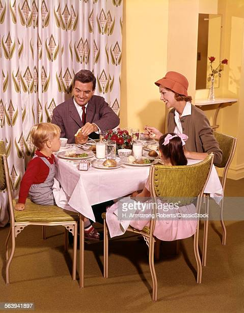 1950s1960s FAMILY DINING...