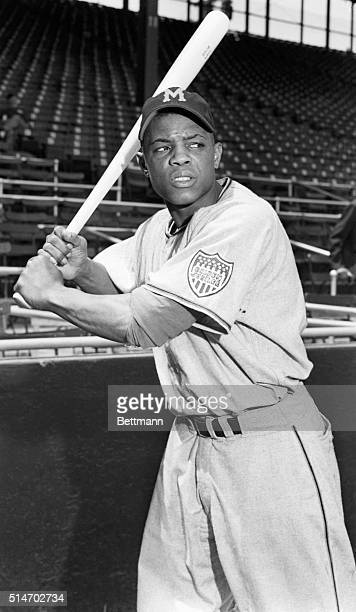 Willie Mays in batting position New York Giants farm photo
