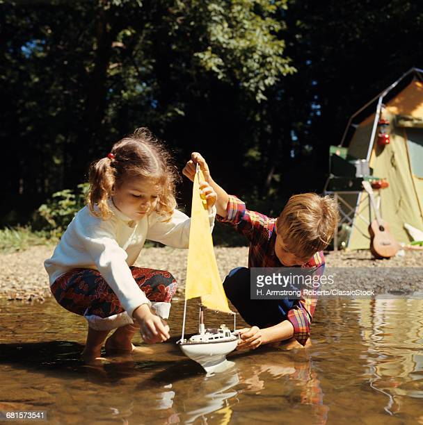 1960s 1970s BOY GIRL AT...
