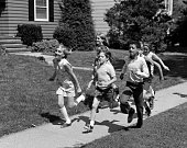 1960s 1970s GROUP OF KIDS...