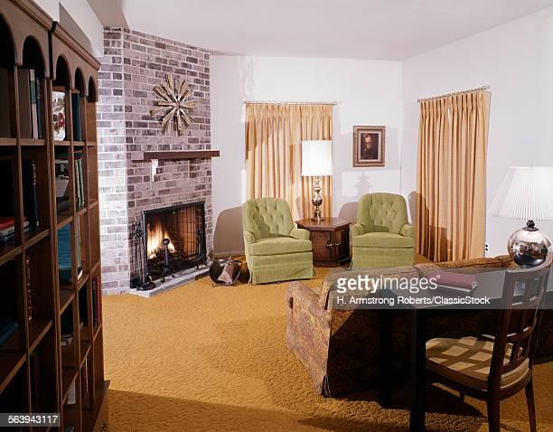 1960s 1970s LIVING ROOM...